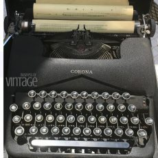 Business of VIntage Corona Typewriter. Learn all about the business of vintage