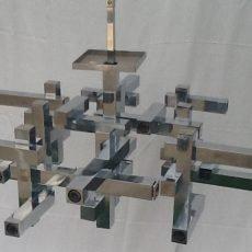 Estate Sale Suprise Gaetano Sciolari Vintage Mid Century Midcentury Modern Cubist Chandelier